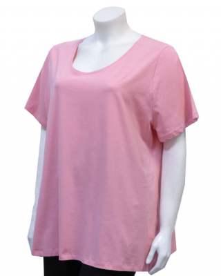 Блуза розова къс ръкав