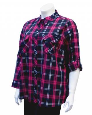 Блуза шемизета каре памук