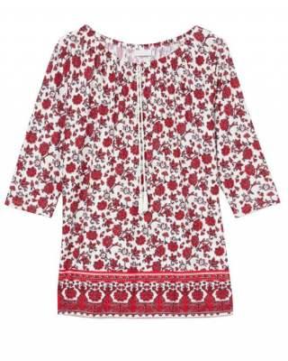Блуза шевица в червено