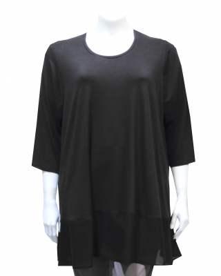 Блуза черна с шифон
