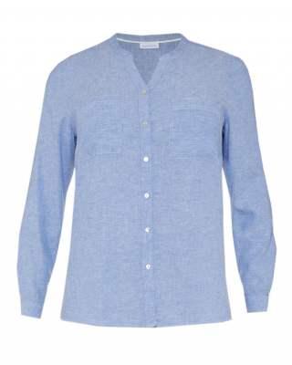 Блуза шпиц джобове лен