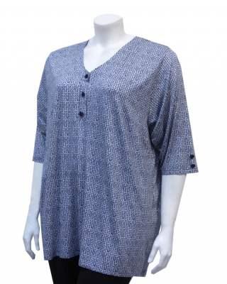 Блуза шпиц в тъмносиньо