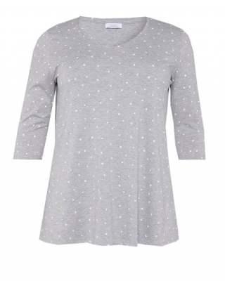 Блуза сива на звездички