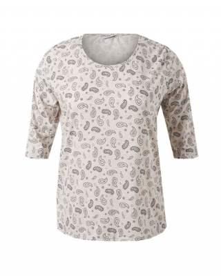 Блуза сиви фигури среден ръкав