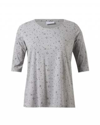 Блуза сиви точки среден ръкав