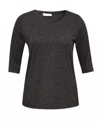 Блуза сиво фигурална среден ръкав
