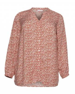 Блуза стил цветя в брик