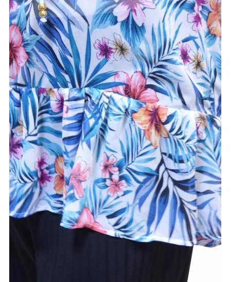 Блуза Цветна