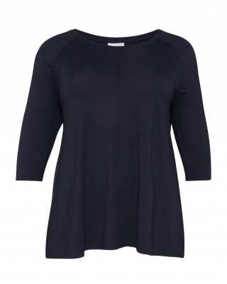 Блуза тъмносиня среден ръкав