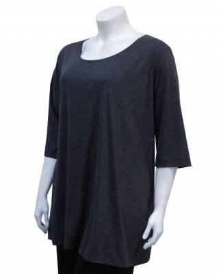 Блуза тъмносива среден ръкав