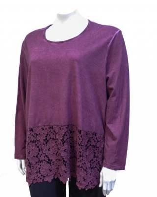 Блуза винтидж тъмночервена