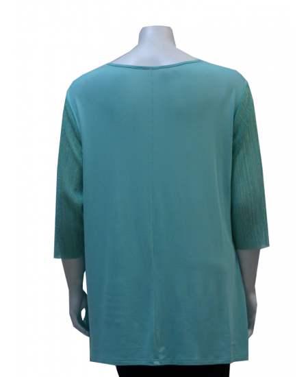 Блуза зелено плисе