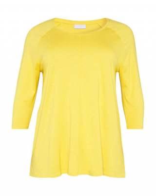 Блуза жълта реглан ръкав