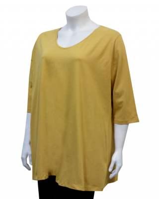 Блуза жълта среден ръкав