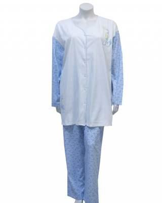 Пижама съчетание в синьо
