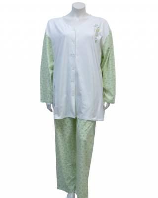 Пижама съчетание в зелено