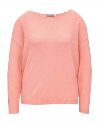 Пуловер бие розов