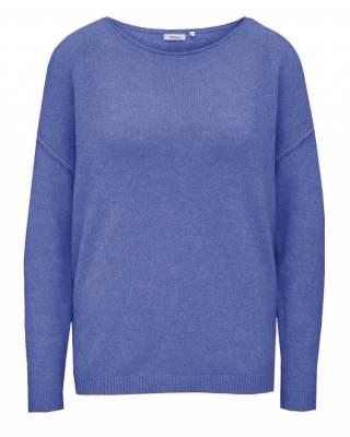 Пуловер бие син