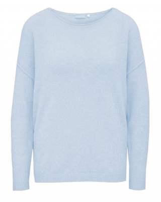 Пуловер бие светлосин