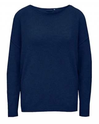 Пуловер бие тъмносин