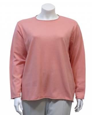 Пуловер Блестящо бие в оранжево