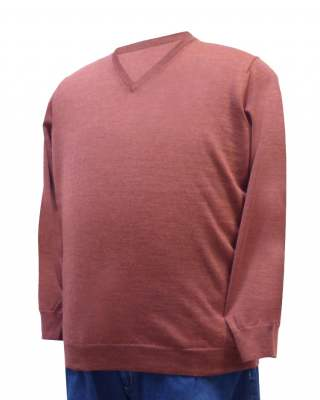 Пуловер брик