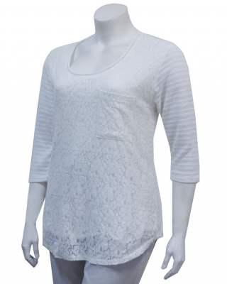 Пуловер Бяла дантела