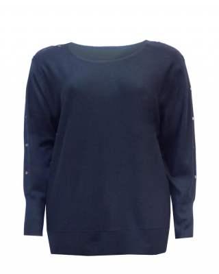 Пуловер ефект черен