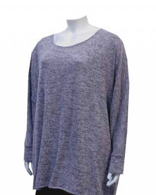 Пуловер  ефект в сиво