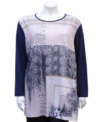 Пуловер Effect Elements в синьо
