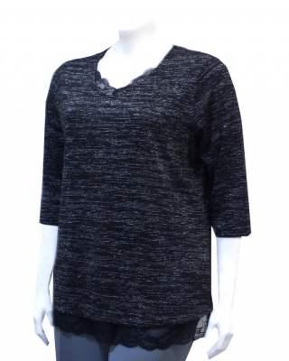 Пуловер ламе дантела