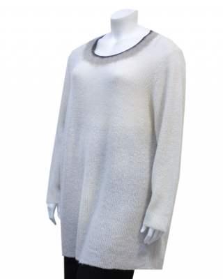 Пуловер мохер бие