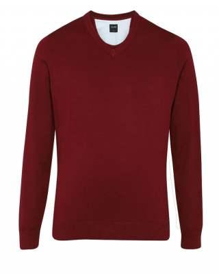 Пуловер Olymp тъмночервен