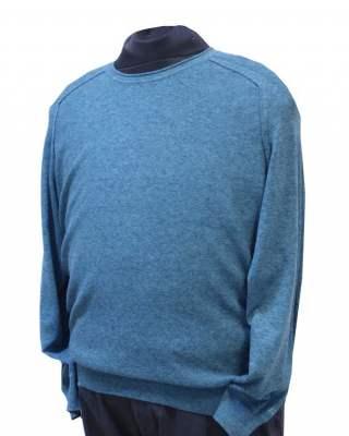 Пуловер Реглан в синьо-зелено