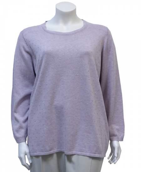 Пуловер Шик точки лилав
