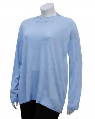 Пуловер  Широко бие светлосин