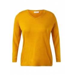 Пуловер шпиц жълт