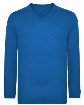Пуловер син