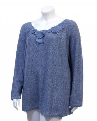 Пуловер сини цветя