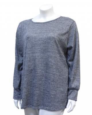 Пуловер ситно каре