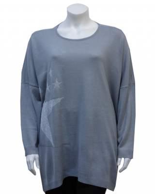 Пуловер сив звезда