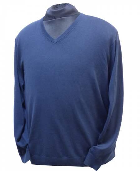Пуловер Стил шпиц тъмносин