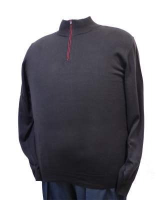 Пуловер Троер кафяв