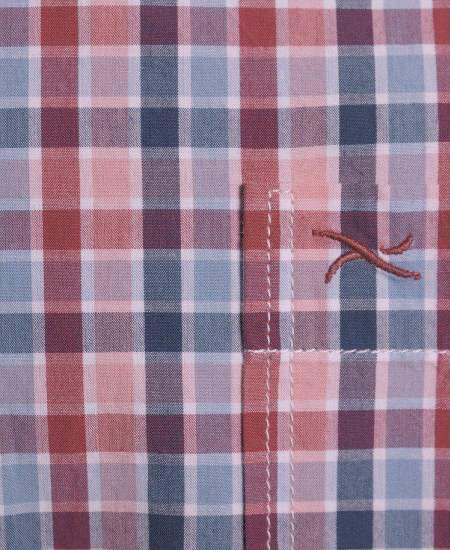 Риза Brax каре в червено