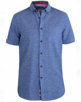 Риза Duke-Eric лен къс ръкав