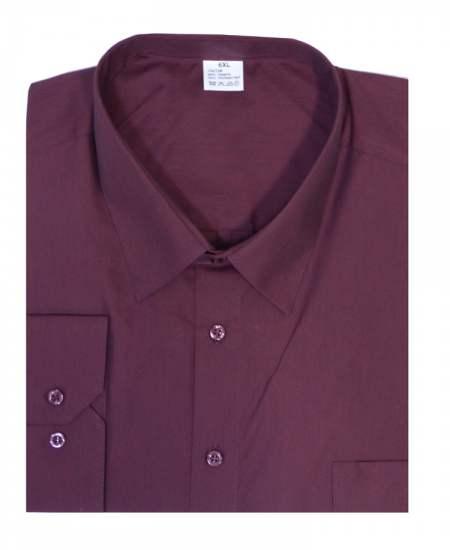Риза дълъг ръкав бордо