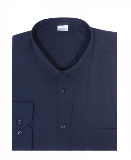 Риза дълъг ръкав черен екстра