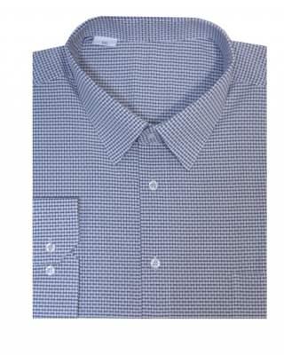 Риза дълъг ръкав едър черен пепит