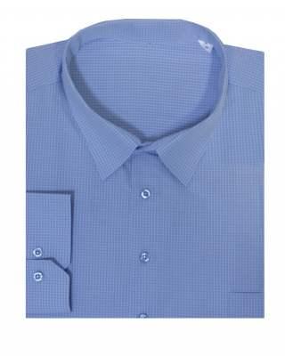 Риза дълъг ръкав каре 100% екстра