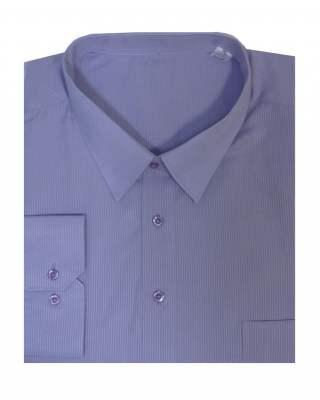 Риза дълъг ръкав лилаво райе